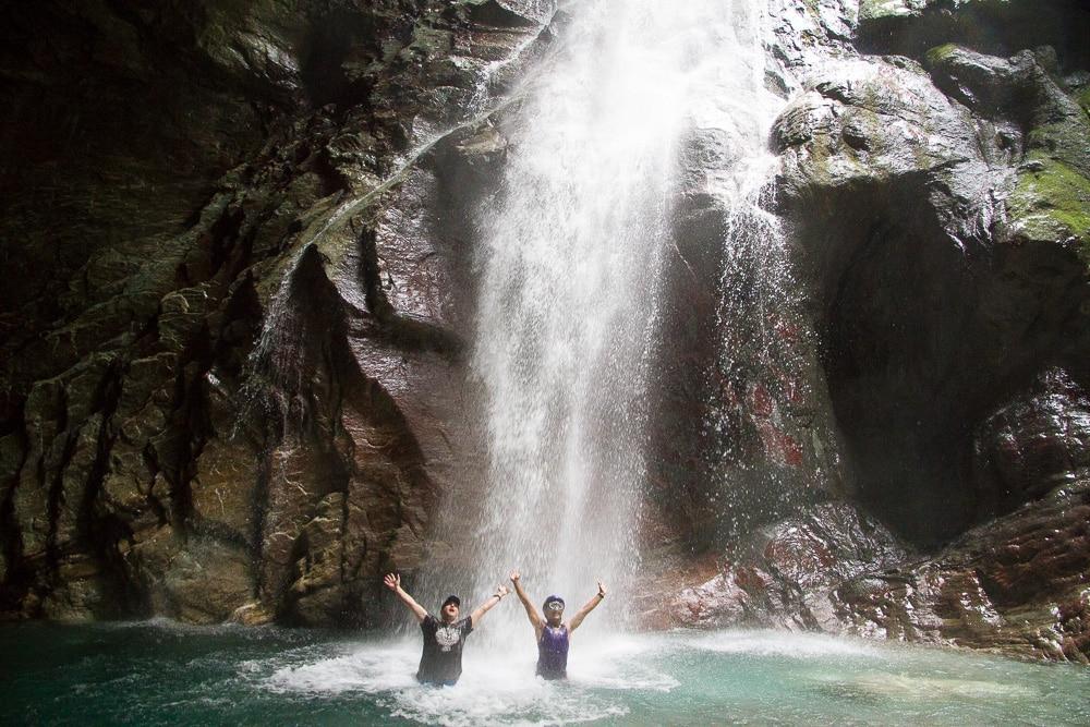 River tracing the Golden Grotto in Sanzhan, Hualian, Taiwan