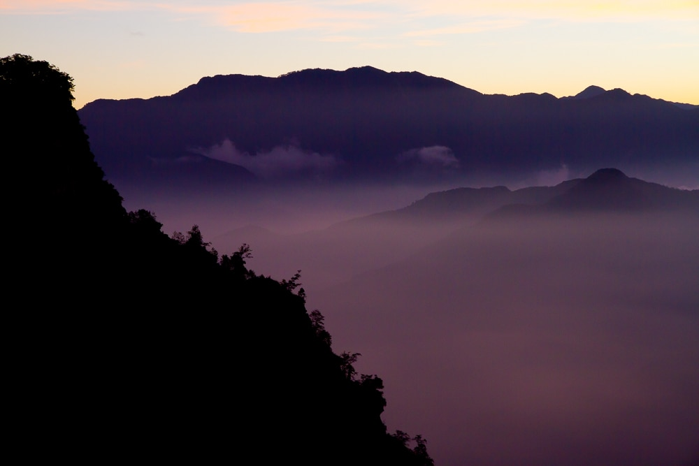 'Sea of clouds' sunrise, Alishan, Taiwan