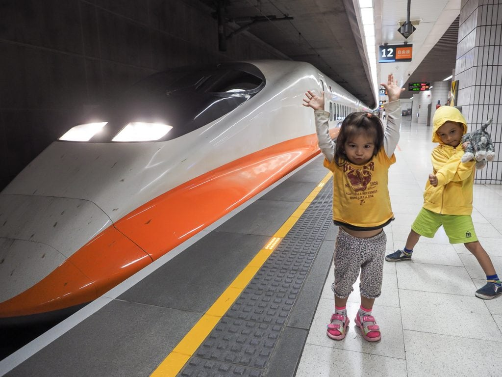 Taiwan high speed rail from Taipei to Taichung