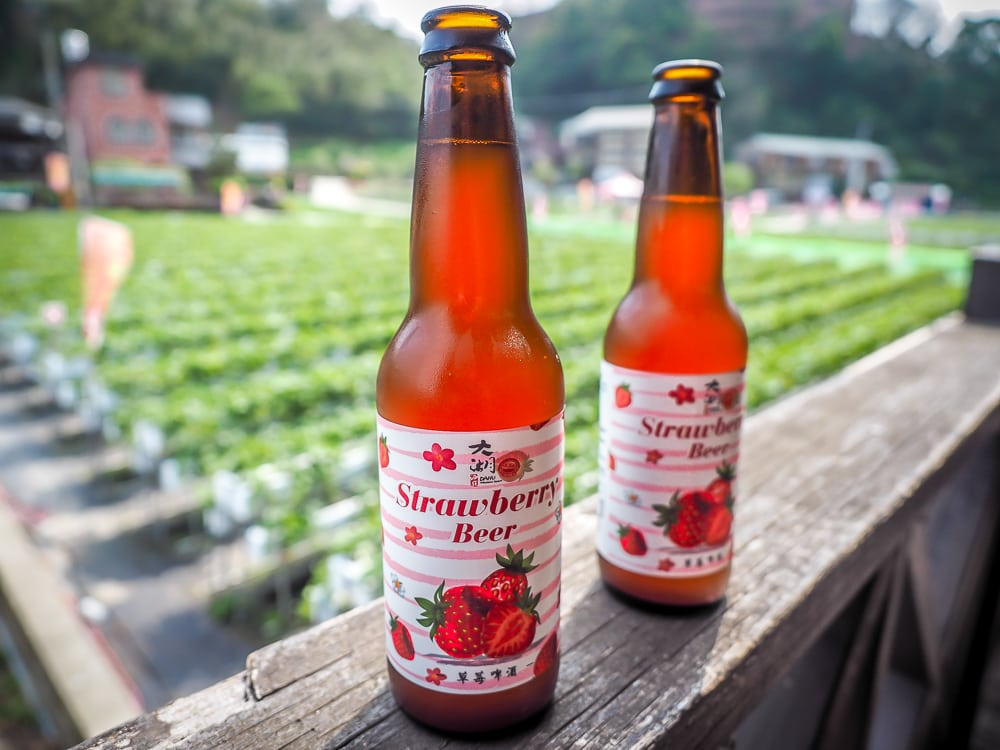 Strawberry beer, Dahu Wineland Resort, Taiwan