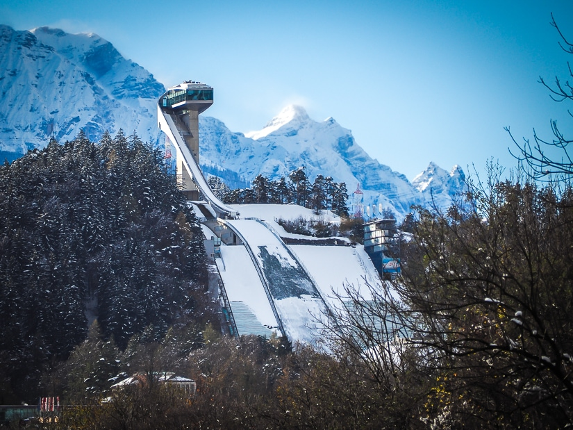 Bergisel Ski Jump, one of the coolest winter-related things to do with kids in Innsbruck